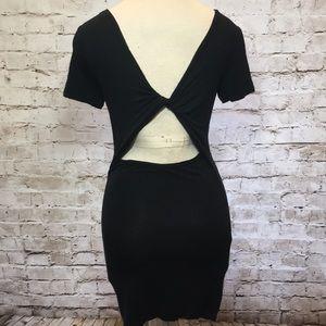 Open back tee dress